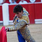 Álvaro Lorenzo - Su primer toro - Feria Albacete - 16-09-16