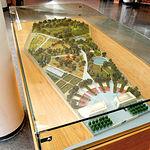 Maqueta con vista general del proyecto del Jardín Botánico de Castilla-La Mancha.