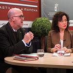 Francisco Pérez del Campo, presidente local de Cruz Roja en Albacete y Gloria Salinas Sánchez, directora provincial de Intervención Social