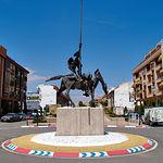 Monumento a Don Quijote de La Mancha, en Valdepeñas (Ciudad Real).