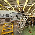 Departamento de aviónica de la Maestranza Aérea de Albacete. Cadena de mantenimiento mayor del F-18.
