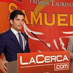 El torero José Garrido en la Gala de Entrega de los X Premios Taurinos Samueles, pertenecientes a la Feria Taurina de Albacete 2015