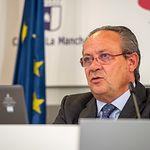 El consejero de Hacienda y Administraciones Públicas, Juan Alfonso Ruiz Molina, presenta el proyecto de Ley de Presupuestos Generales de Castilla-La Mancha para 2020. (Fotos: A. Pérez Herrera / JCCM).