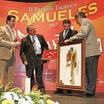 """Francisco María González recibió el premio """"A la mejor suerte de varas""""."""