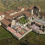Simulación por ordenador de la Casa Materno del Parque Arqueológico de Carranque.
