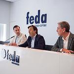 Firma del convenio de colaboración entre FEDA y el Albacete Balompié