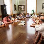 Francisco Núñez, presidente del PP-CLM, se reúne con el grupo PP del la Diputación de Albacete. Foto: Manuel Lozano García / La Cerca