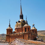 Impresionante cúpula encamonada de la iglesia del Santísimo Cristo del Valle, en San Carlos del Valle.