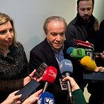 Daniel Faura, candidato al Senado por Ciudadanos en Albacete, durante la tradicional Pegada de Carteles de las Elecciones Generales del 28A