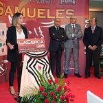 Cristina Sánchez en la Gala de entrega de los XI Premios Taurinos Samueles correspondientes a la Feria de Taurina de Albacete 2016