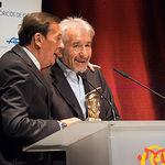 José Sacristán junto a Tony Isbert en la Gala de entrega del XIX Premio Nacional de Teatro Pepe Isbert
