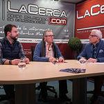 """Oscar Colmenar y Juan Cantos """"Pimpi de Albacete"""", empresarios de caballos de picar, junto a Manuel Lozano Serna, director del Grupo Multimedia de Comunicación La Cerca"""