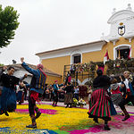 Ofrenda a la Virgen de Los Llanos en la Feria de Albacete 2019. Foto: Manuel Lozano García / La Cerca