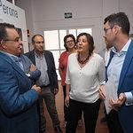 La consejera de Economía, Empresas y Empleo, Patricia Franco, mantiene un encuentro con representantes de la Asociación de Empresarios de Campollano, ADECA