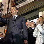 José Luis Rodríguez Zapatero en la noche electoral del 2004