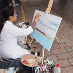 Concurso de Pintura Rápida en la Feria de Albacete. Foto: La Cerca - Manuel Lozano Garcia