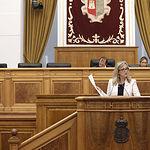 Merino, en el Pleno de las Cortes Regionales. Foto: CARMEN TOLDOS