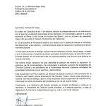 Carta de Carles Puigdemont al Gobierno.