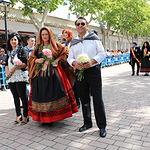 Concejales de Ciudadanos en la Ofrenda de Flores a la patrona de Albacete.