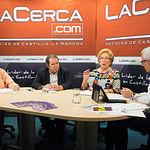 Manuel Requena, profesor de Historia en la UCLM; Juan Miguel Rodriguez, pintor; Anastasia Tsackos, hija de brigadista; y Manuel Lozano, director del Grupo Multimedia de Comunicación La Cerca.