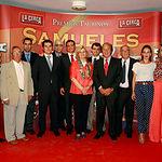 Foto de familia de los VI Premios Samueles - Premiados