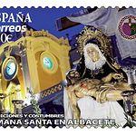 Sello de Correos - Semana Santa Albacete - Manuel Lozano García