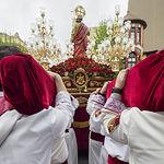 'Encuentro' de la Procesión del Resucitado de este Domingo de Resurrección en la Semana Santa de Albacete 2019