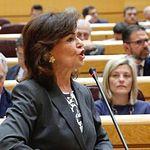 Carmen Calvo en el Senado.