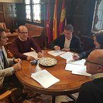 Firma contrato Diputación-Liberbank.