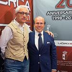 Javier López-Galiacho, presidente de AMIThE, junto a Manuel Lozano, director del Grupo Multimedia de Comunicación La Cerca
