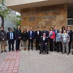 Visita al centro 'Infanta Leonor', recurso concertado con la Junta de Comunidades de Castilla-La Mancha, y que gestiona COCEMFE.