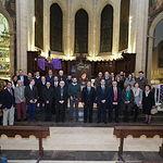 Manuel Serrano, asiste a la presentación del Cartel de la Semana Santa, en las escalinatas de la Catedral.