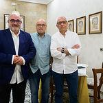 De Iz. a Drcha., Ángel Ramírez Ludeña, Andrés Gómez Flores y Manuel Lozano Serna. Foto: Manuel Lozano García / La Cerca