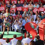 Matilde Valentín en el mitin de Pedro Sánchez en Albacete