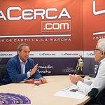 Ángel Nicolás, presidente de la Confederación de Empresarios de Castilla-La Mancha (CECAM), junto a Manuel Lozano, director del Grupo Multimedia de Comunicación La Cerca.