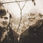 Manuel Gerena y Rafael Alberti, en Paris, en 1970.