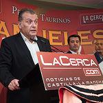Pedro Belmonte en la Gala de entrega de los XI Premios Taurinos Samueles correspondientes a la Feria de Taurina de Albacete 2016