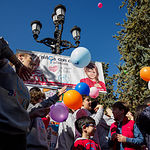 Acto del Día Internacional del Niño con Cáncer organizado por AFANION en Albacete. Foto: Manuel Lozano García / La Cerca