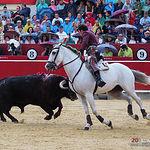 Andy Cartagena - Su primer toro - Feria Taurina 09-09-18