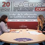Llanos Játiva, presidenta del Colegio de Administradores de Fincas de Albacete y Cuenca, junto a la periodista Miriam Martínez