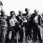 En la imagen, un grupo de brigadistas en Albacete (fondos CEDOBI-IEA)