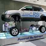 Los vehículos impulsados por pilas de combustible se pueden convertir en un medio para almacenar energía en forma de hidrógeno que, a su vez, se convertiría en electricidad. Foto: Prototipo de vehículo impulsado por hidrógeno.