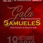 Cartel Marc Descalzo - Premios Taurinos Samueles 2019 - Feria Taurina de Albacete 2018.