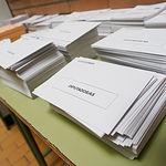 Papeletas para realizar las votaciones de las Elecciones del 28A