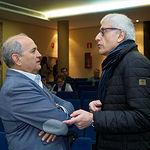 José Reina, presidente de la FAVA, junto a Manuel Lozano Serna, director del Grupo Multimedia de Comunicación La Cerca