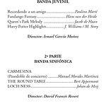 Concierto Extraordinario por Santa Cecilia el martes 26 de noviembre .