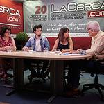 Cristina Galletero Montero, coordinadora de Empleo y Formación de Cáritas; Miguel Castillo Garrido, orientador sociolaboral de Accem; Ana Rosa Manzanares Bautista-Cerro, coordinadora de Empleo y Formación de Asprona; y Manuel Lozano Serna, director del Grupo Multimedia de Comunicación La Cerca