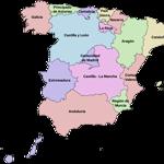 Mapa de Comunidades Autónomas de España.