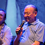 Presentación de Entre Versos y Marsillach en Albacete de Blanca Marsillach y La Caixa