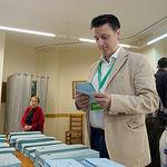 Pedro Soriano, candidato de Contigo Somos Democracia a la alcaldía de Albacete, ejerce su derecho al voto en las Elecciones Europeas, Autonómicas y Municipales del 26M de 2019